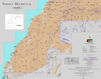 Mapa Pistas Sahara Occidental